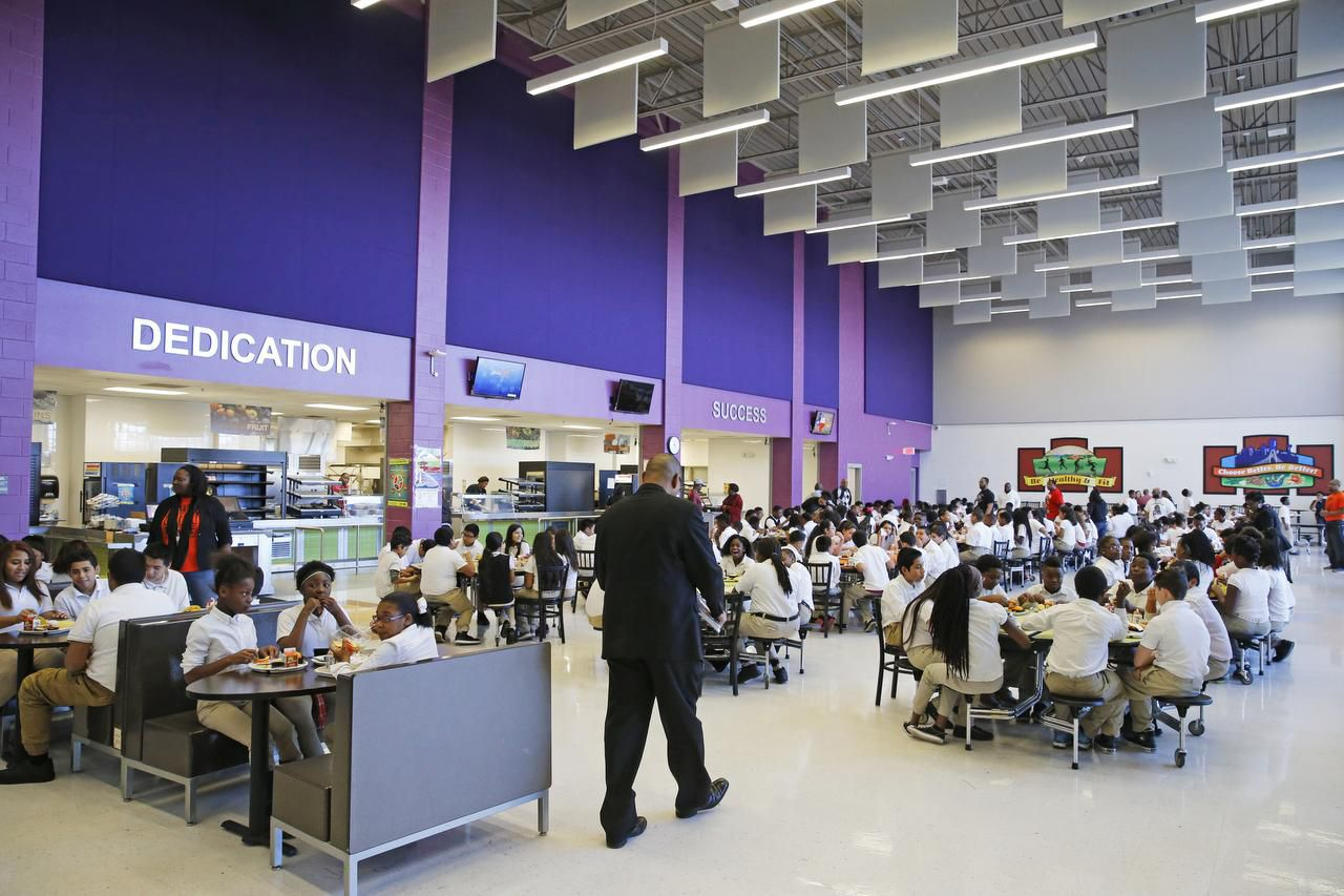 """Parents say food fights that plagued Dade Middle School's cafeteria in years past are gone, along with fights and unruly students in the halls. """"This school has really changed. It's wonderful,"""" said Charlotte Prear, who has a grandchild at Dade."""