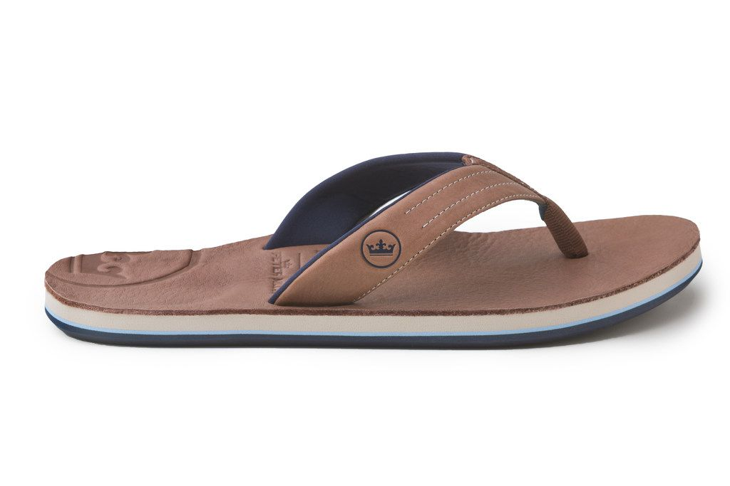 The Hari Mari-Peter Millar sandal are made with Horween leather.