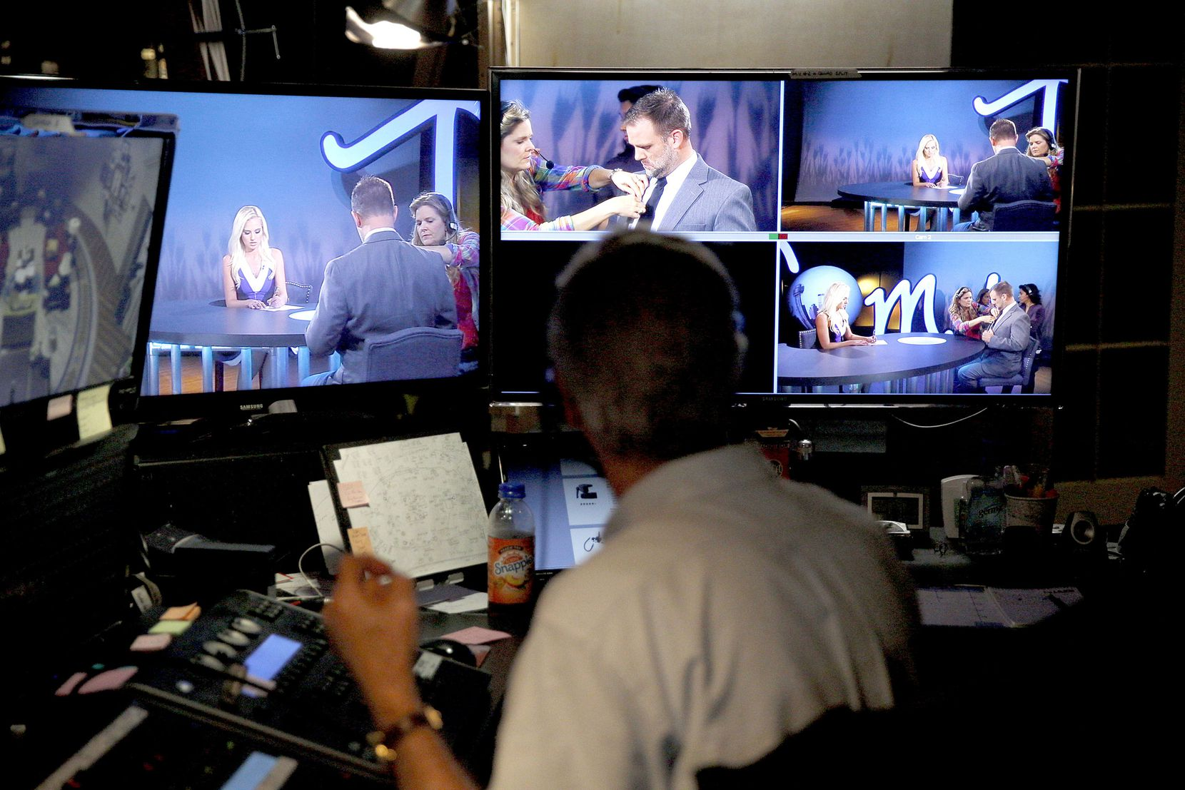 A taping of Tomi Lahren's show Tuesday, October 11, 2016 for Glenn Beck's The Blaze multimedia network, which is based in Irving, Texas.