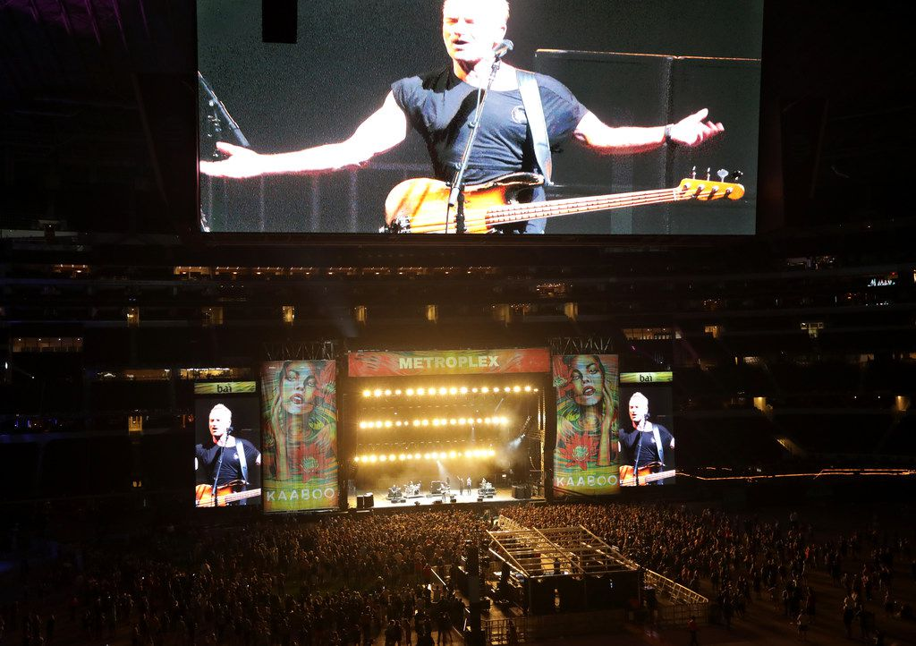 Sting performs during Kaaboo Texas at AT&T Stadium in Arlington on May 12, 2019.