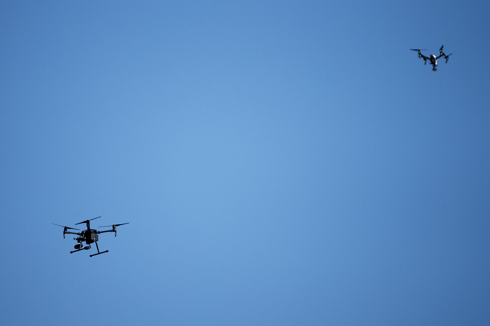 Police used drones to search for Sherin Mathews on the campus of Richland College on Oct. 17.