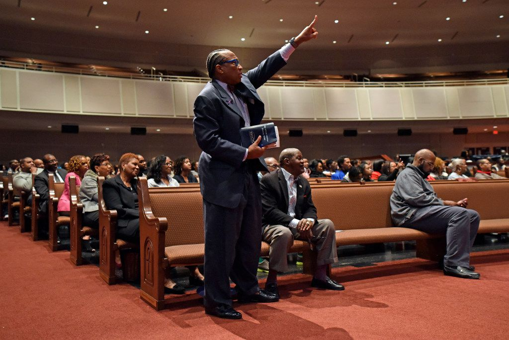 Dallas County Commissioner John Wiley Price reacts to a speech made by author and professor Michael Eric Dyson during a Sunday service at Friendship-West Church in Southern Dallas, Feb. 26, 2017. Ben Torres/Special Contributor