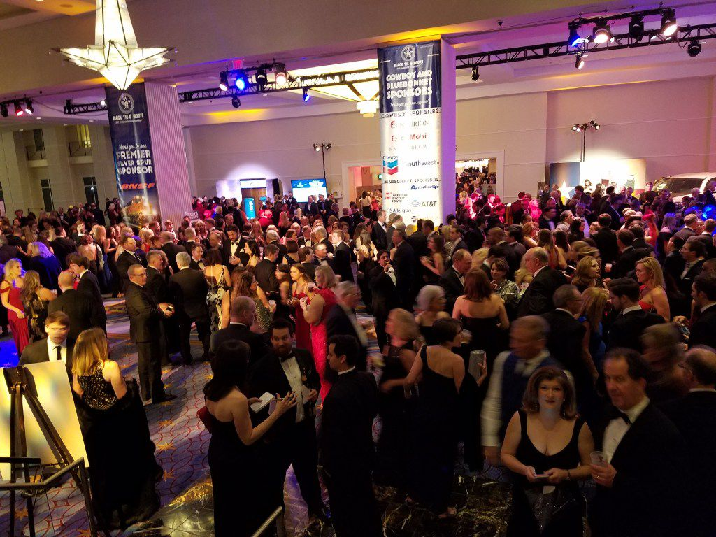 Texans and other revelers celebrated inauguration at the Black Tie & Boots ball Thursday, Jan. 19, 2017, at the Gaylord National Resort & Convention Center in National Harbor, Md.