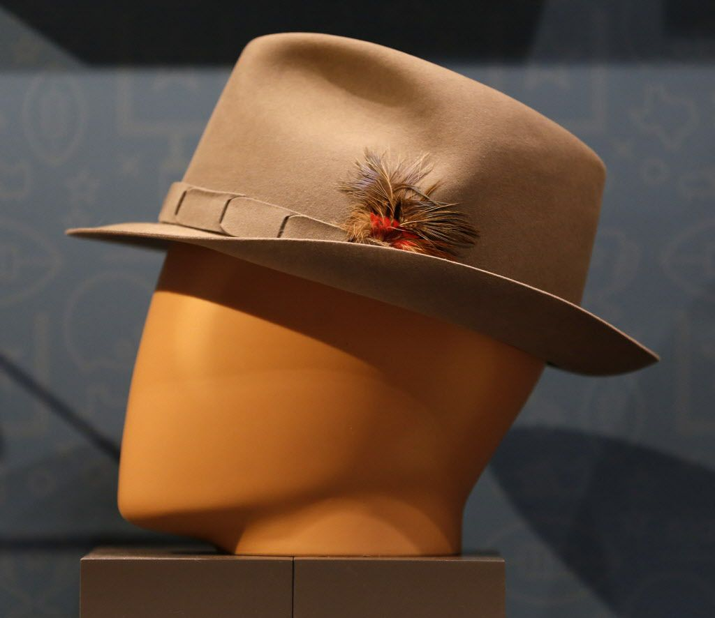 Tom Landry's 1974 fedora, part of the Eye of the Collector exhibit at the Perot Museum of Nature and Science in Dallas on April 14, 2016.