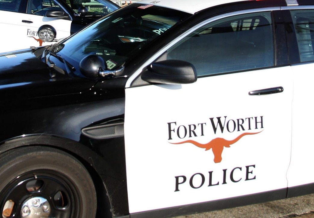 A Fort Worth Police Department squad car.