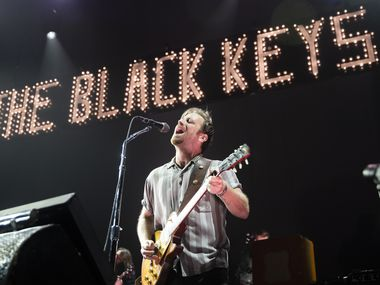 """Dan Auerbach of the Black Keys performs as part of the band's """"Let's Rock"""" tour, at Dickies Arena on Nov. 14, 2019 in Fort Worth."""