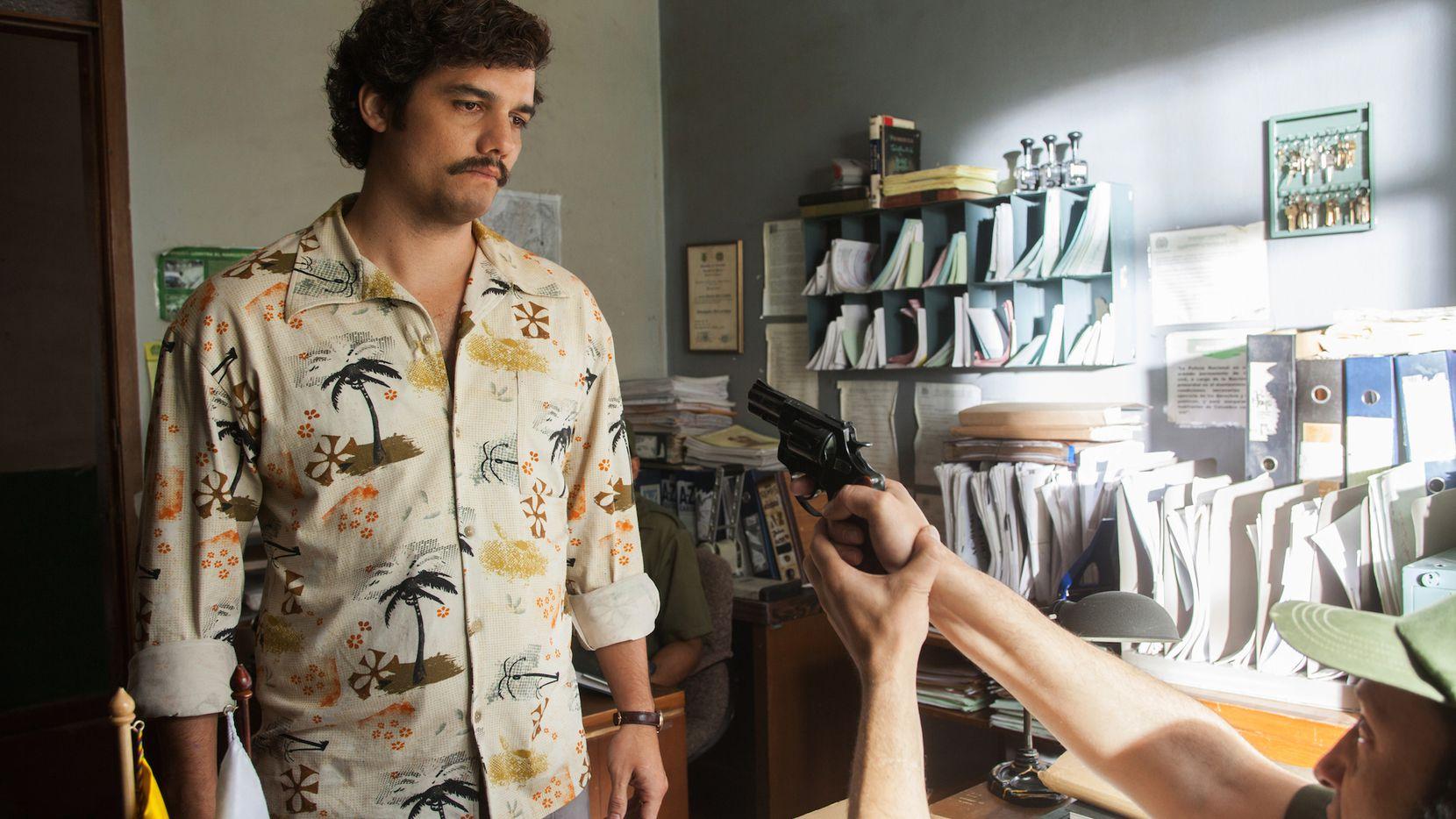 Wagner Moura interpreta a Pablo Escobar en la serie Narcos de Netflix.