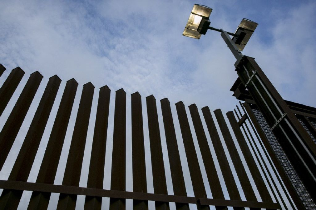 "A section of border fence is shown in Hidalgo, Texas. A Mexican government official reiterated Thursday that his country ""will not collaborate in any way in the construction of a possible wall."" (Ilana Panich-Linsman/The Washington Post)"