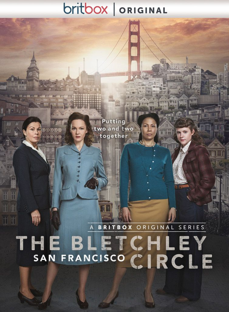 From left to right, Julie Graham, Rachael Stirling, Crystal Balint and Chanelle Peloso, who star in the new original series on BritBox, The Bletchley Circle: San Francisco.