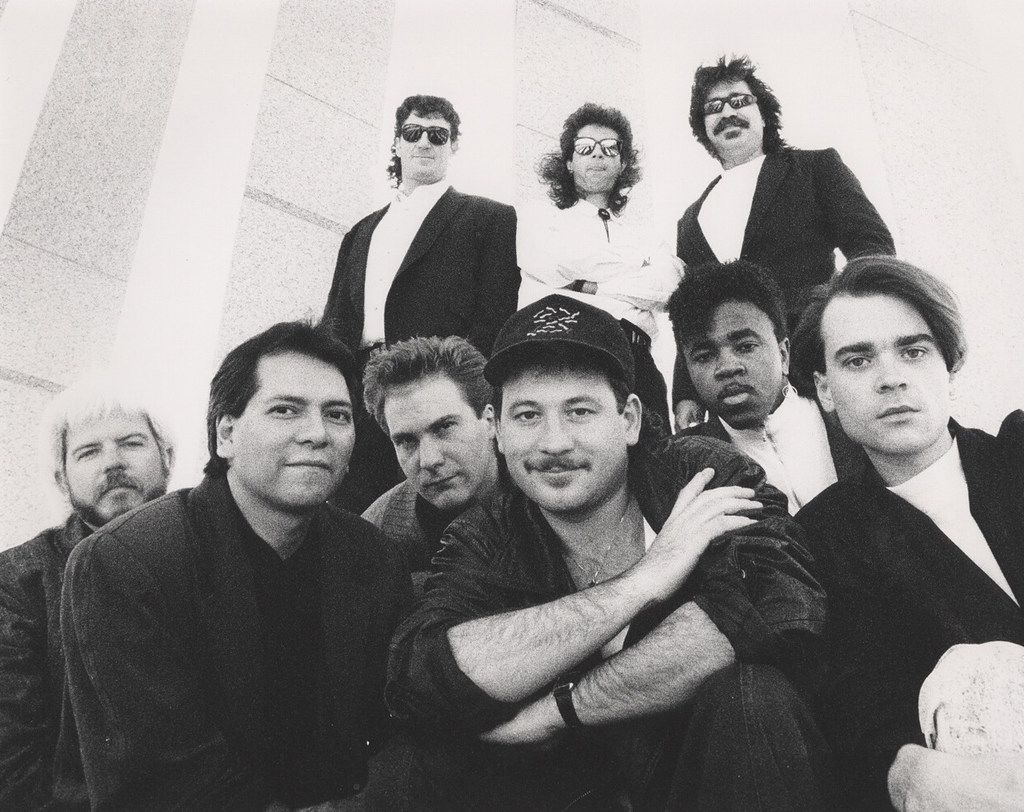 Emerald City Band members in 1988.