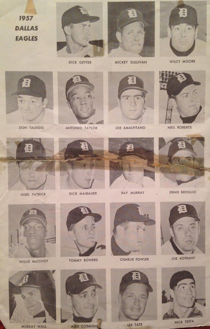 That championship season: In 1957 the Dallas Eagles won 102 games and captured the Texas League title