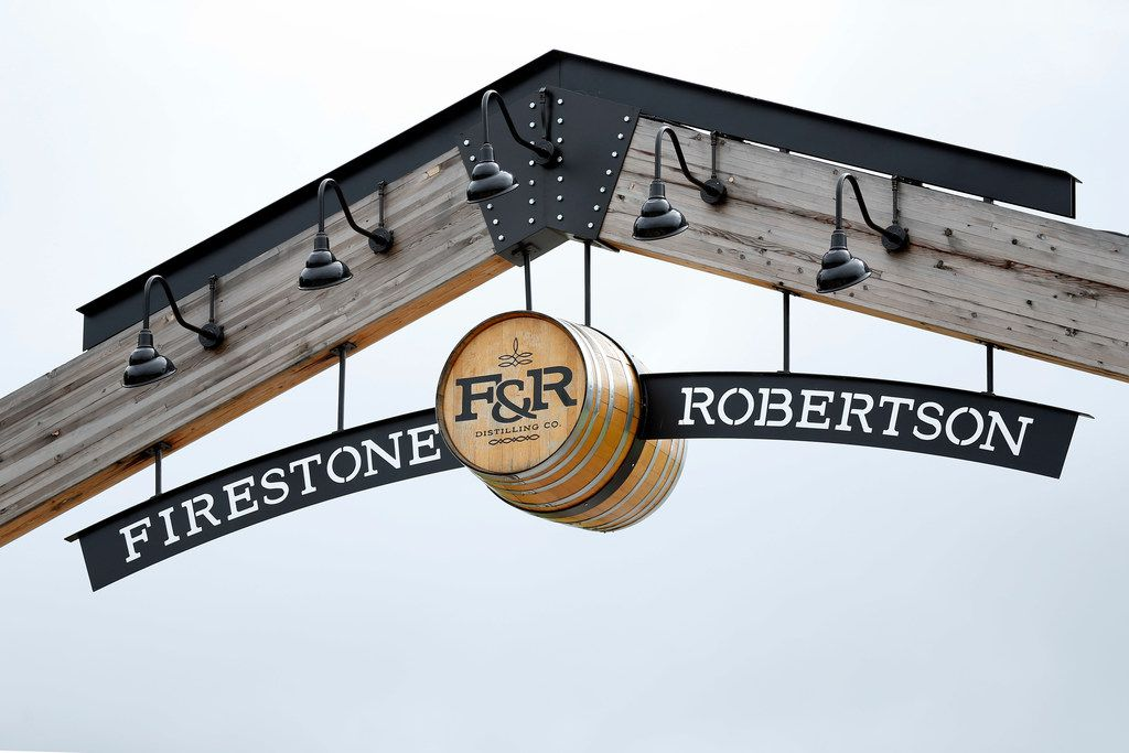 The entrance to Firestone & Robertson Distilling Co. in Fort Worth