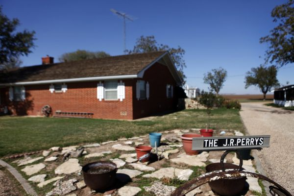 The Perry family's home is in Paint Creek in Haskell County, Texas.