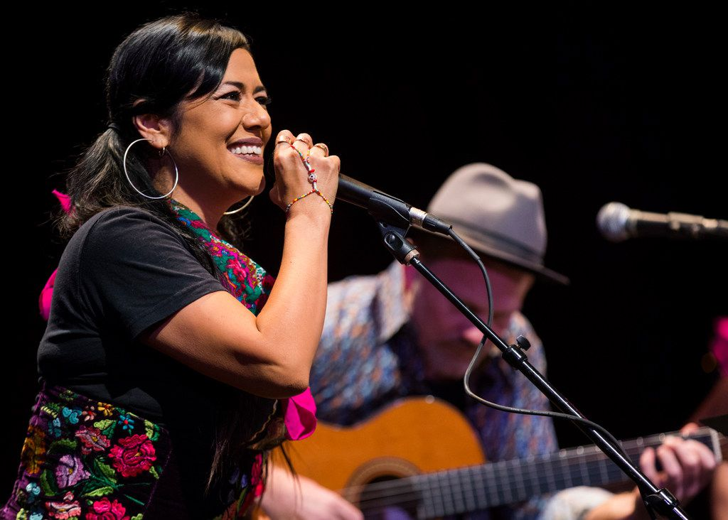 Lila Downs and David Pulkingham perform at Lampadusa: Concerts for Refugees in Dallas.