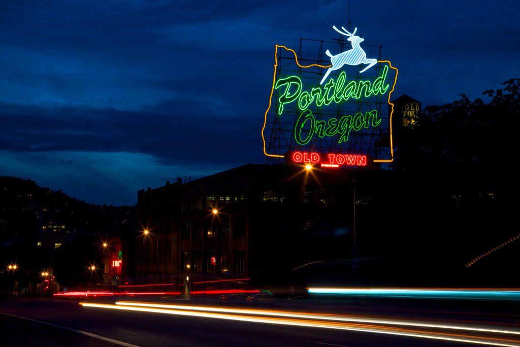 The beloved white stag sign became a city of Portland historic landmark in 1977.