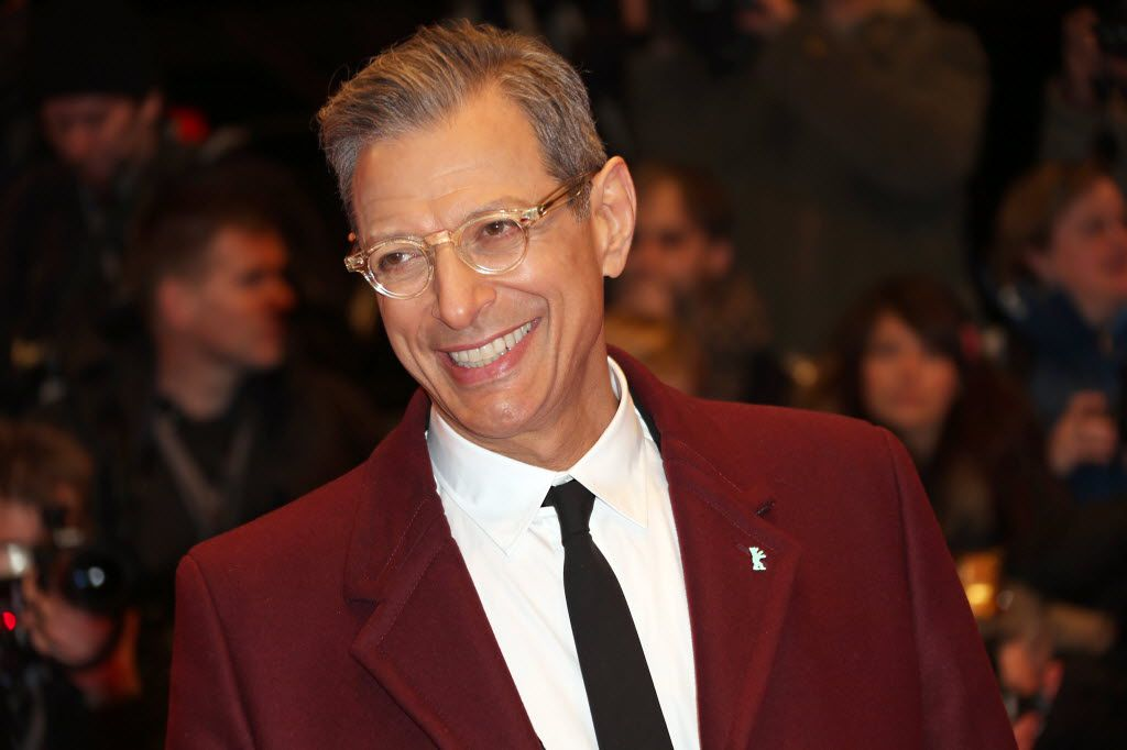 """FILE - This Feb. 6, 2014 file photo shows actor Jeff Goldblum at the screening of the film The Grand Budapest Hotel and opening night of the 64th Berlinale International Film Festival in Berlin. The Cafe Carlyle said that the """"Jurassic Park"""" star will perform Sept. 16–20 with his jazz band, The Mildred Snitzer Orchestra. The actor has sung and played piano with the band for years but the new dates mark their New York premier.  (Photo by Joel Ryan/Invision/AP, File) 08132014xBRIEFING"""