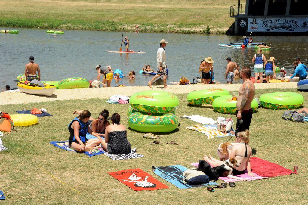 Fort Worth residents swim, canoe, and tube at Sunday Funday.