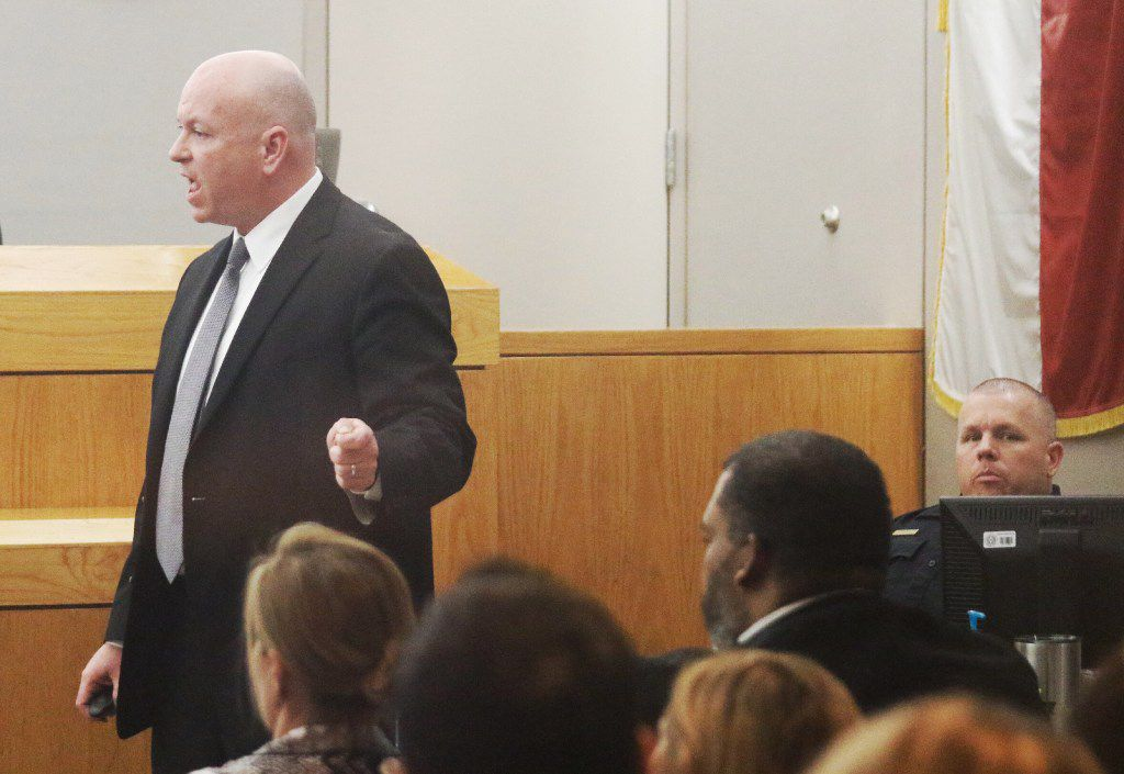 Prosecutor Glen Fitzmartin makes  his final argument Thursday in the sentencing phase of the capital murder trial of Erbie Lee Bowser.