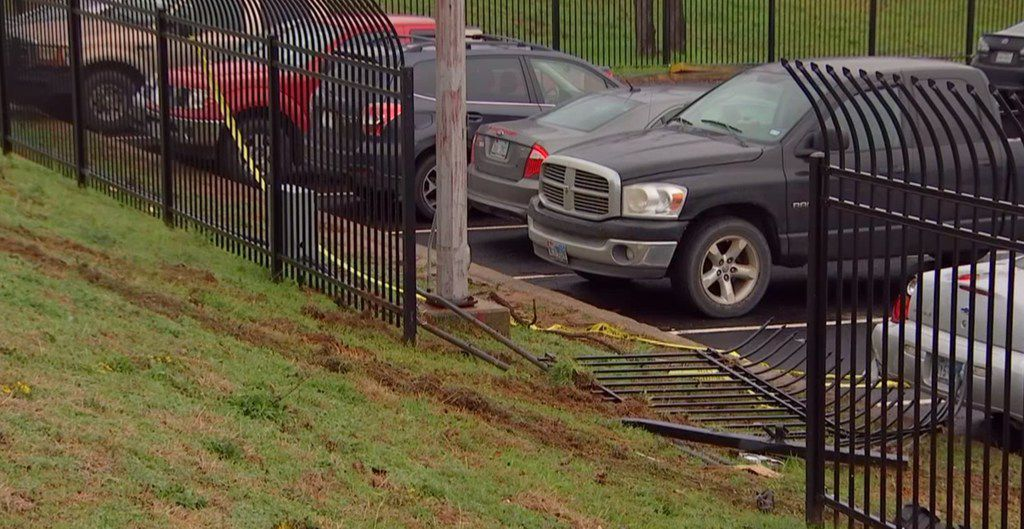 Two dozen vehicles were hit Monday when a truck crashed into a parking lot off Bell Flight Boulevard in Fort Worth.