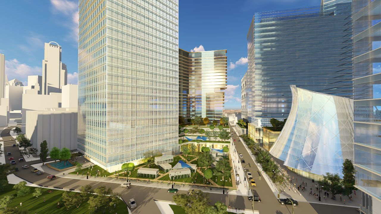 The Dallas Smart District would occupy about eight blocks on the south side of downtown Dallas.