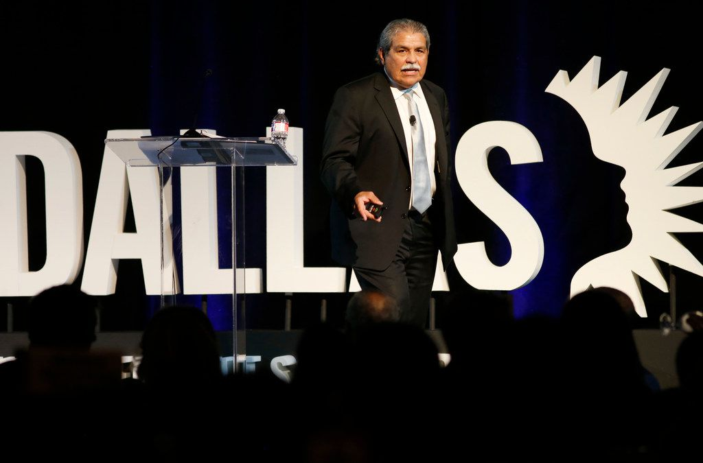 Dallas Independent School District superintendent Dr. Michael Hinojosa speaks at the Dallas ISD State of the District in Dallas on Friday, February 1, 2019. (Vernon Bryant/The Dallas Morning News)