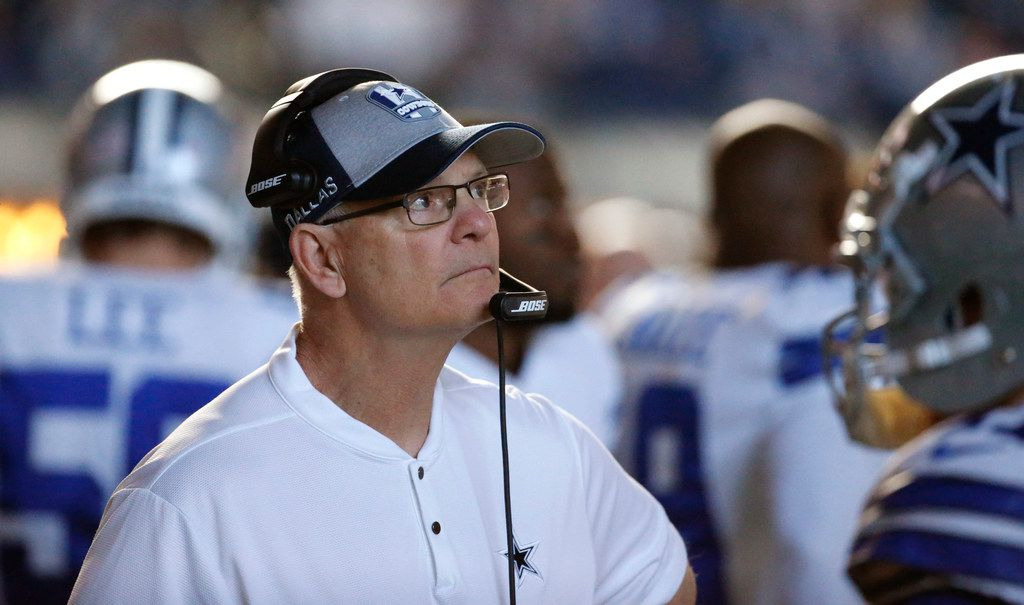Cowboys defensive coordinator Rod Marinelli is pictured during a game against the Indianapolis Colts at Lucas Oil Stadium in Indianapolis on Sunday, Dec. 16, 2018. (Louis DeLuca/The Dallas Morning News)