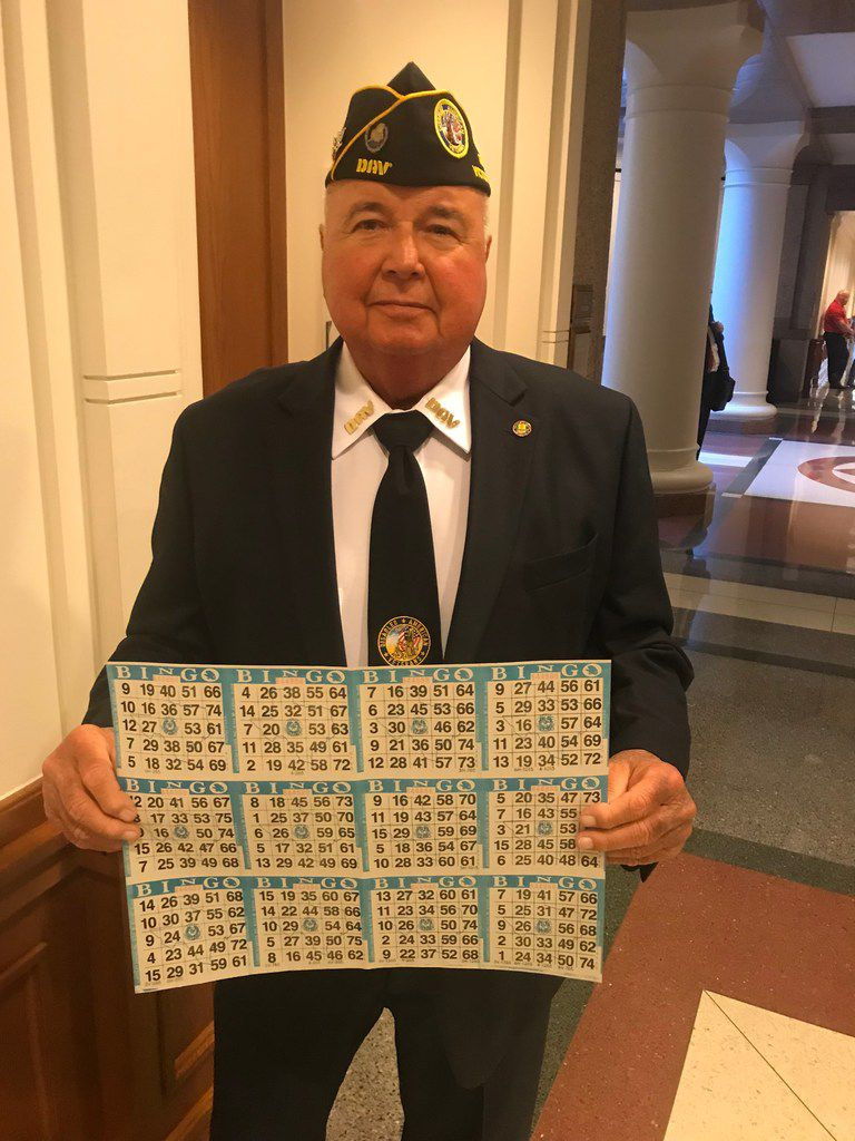 Will Martin of Victoria, 71, testified on Tuesday, April 9, 2019, at the Capitol in Austin, Texas, in favor of a bill to let charitable groups spend more hours hosting fundraising bingo events.