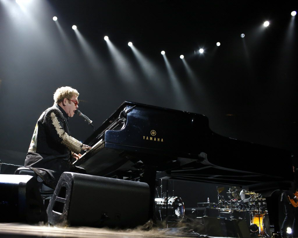 March 14, 2014: Elton John performs at American Airlines Center in Dallas.