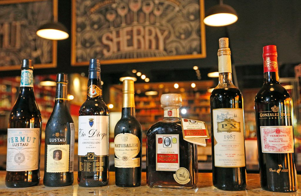 A selection of wines available at the Tapas Castile restaurant in Trinity Groves.
