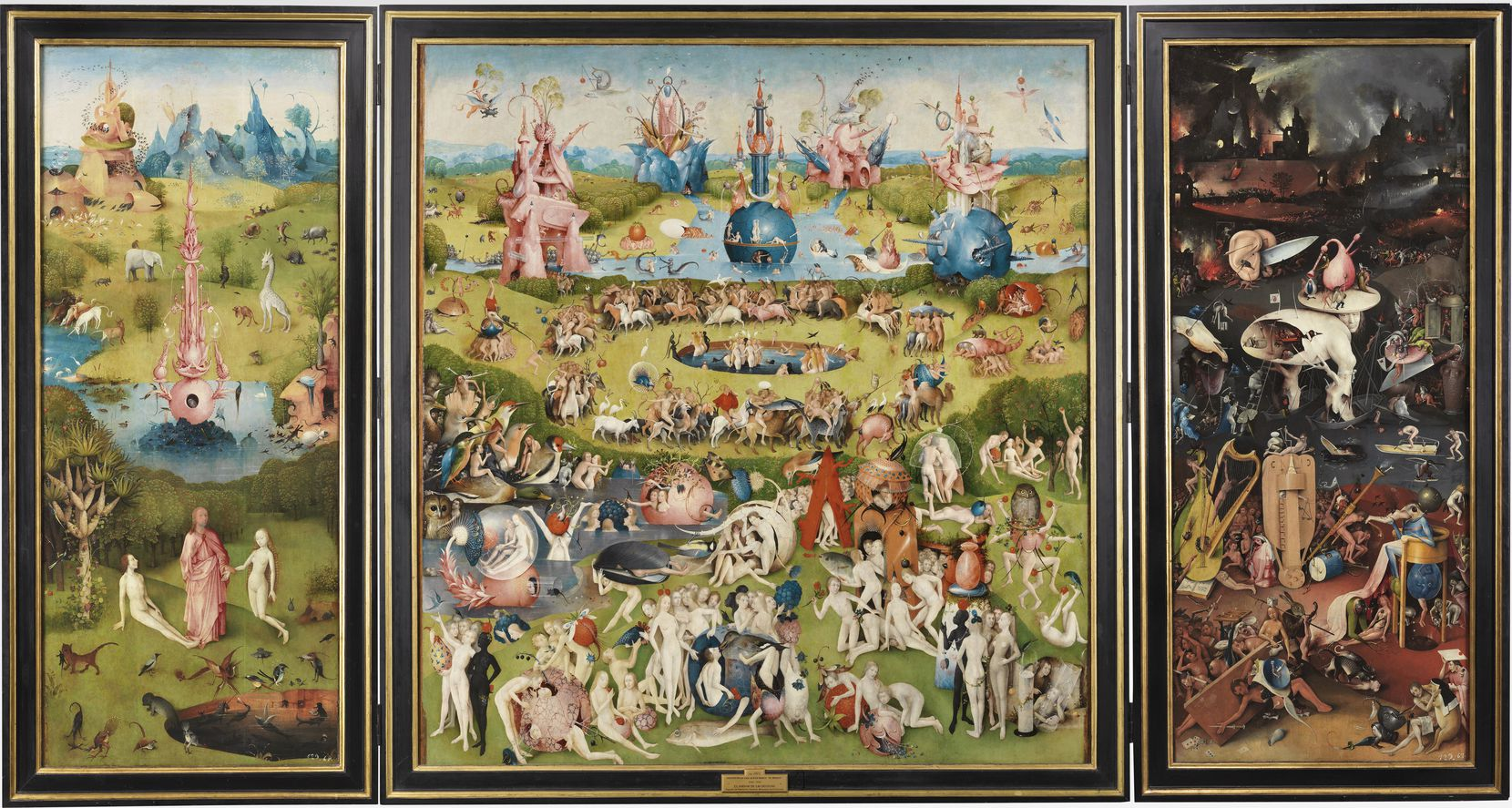 "The Garden of Earthly Delights painting at ""The Prado in Santa Fe"" by Hieronymus Bosch"
