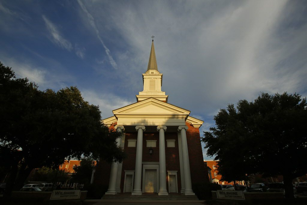 The sun set on Wilshire Baptist Church in Dallas in 2014. (File Photo/Nathan Hunsinger)