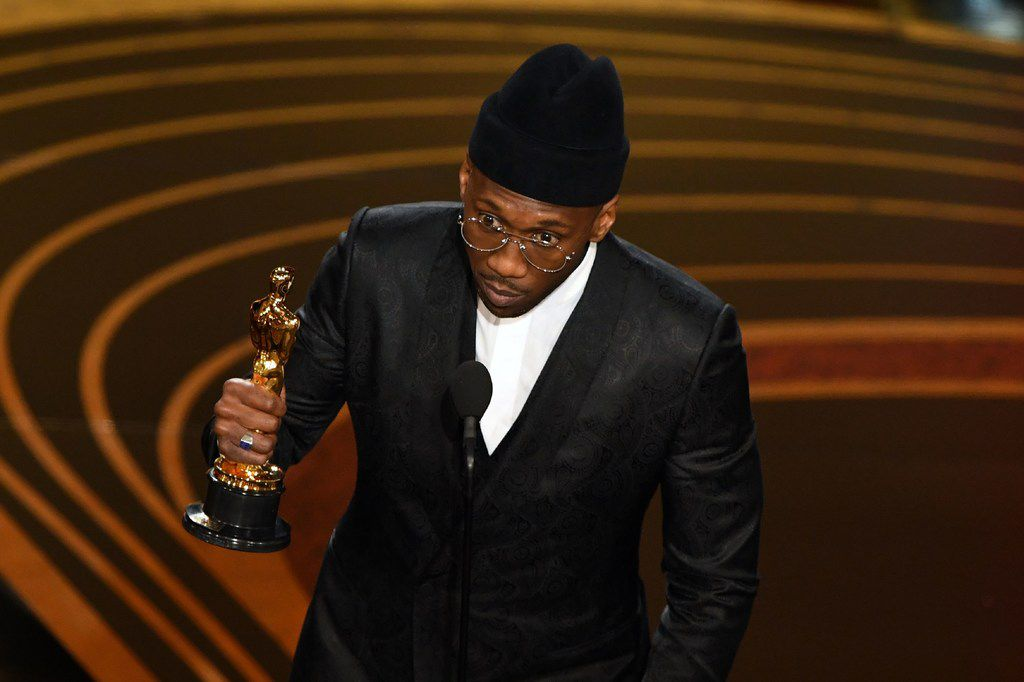 Green Book  actor Mahershala Ali accepts the award for best supporting actor during the 91st Annual Academy Awards at the Dolby Theatre in Hollywood, on Feb. 24, 2019.