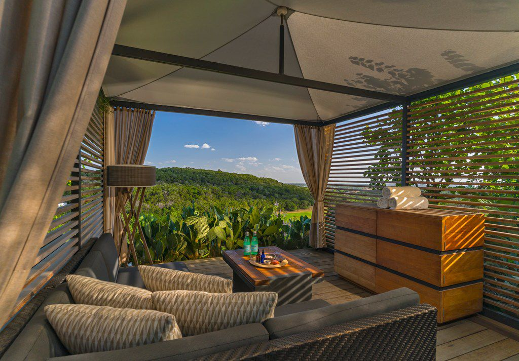 This terrace with a hilltop view is among the tranquil spots at Loma de Vida Spa at La Cantera Resort & Spa in San Antonio.
