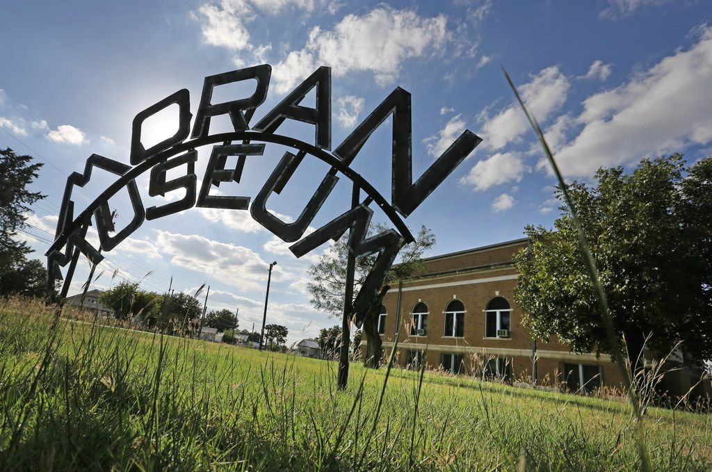 A sign for the Moran Museum, which was closed,  in Moran, Texas, photographed on Thursday, October 5, 2017. (Louis DeLuca/The Dallas Morning News)