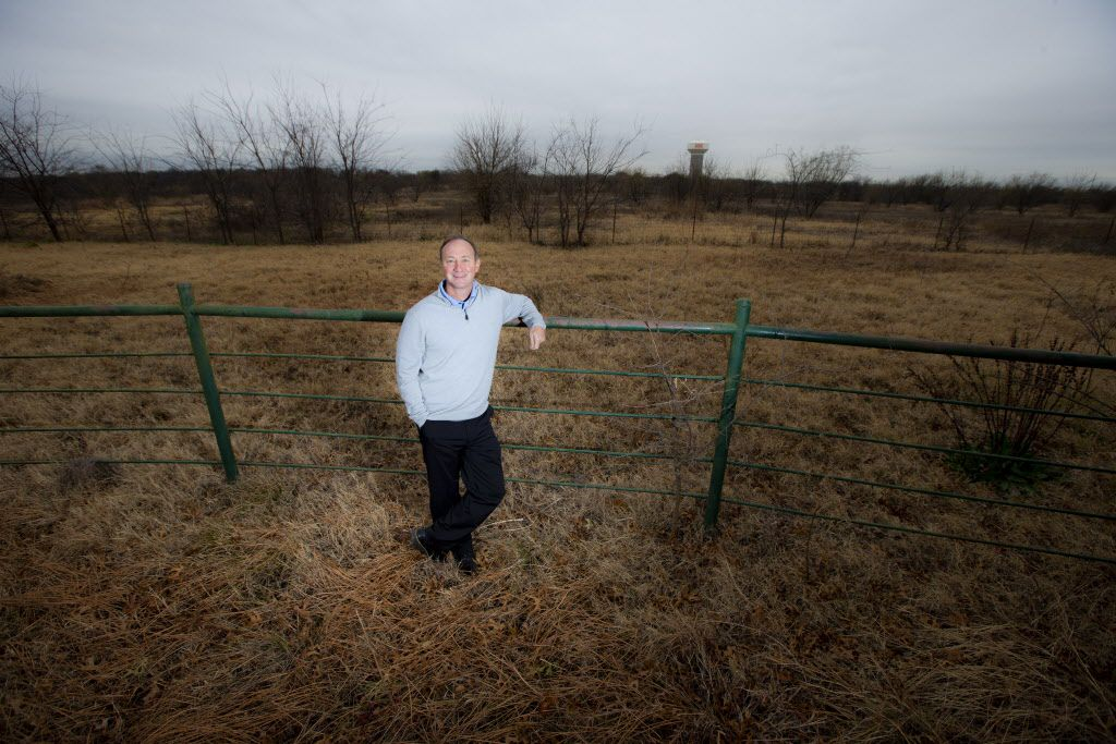 David Ovard is photographed in northern Frisco, where one of two new golf courses will be built.