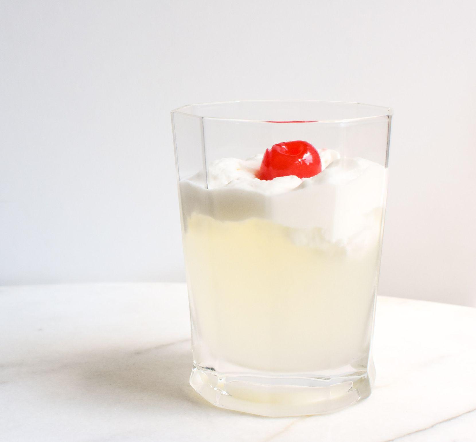 Lemonade with Pineapple Whipped Cream