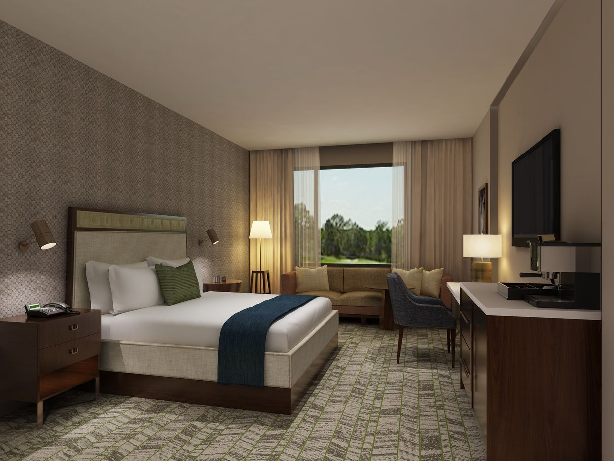 A rendering of the king room at The Stella in College Station.