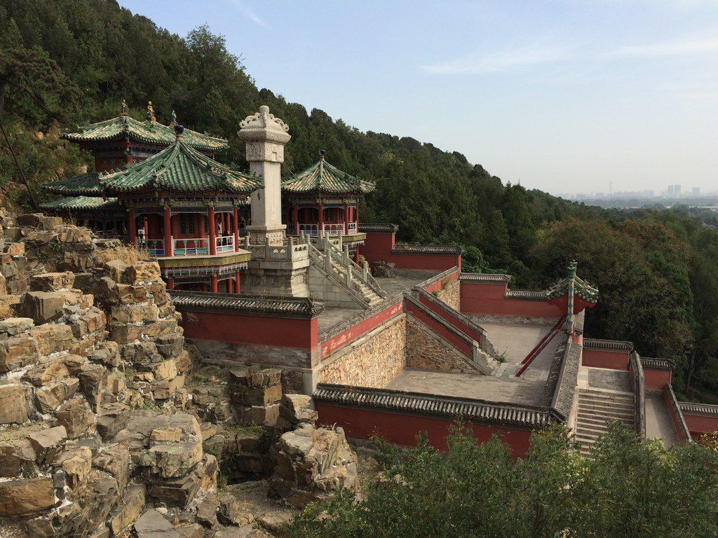 A mountainside view of one of the buildings at the Summer Palace in Beijing in September 2017.