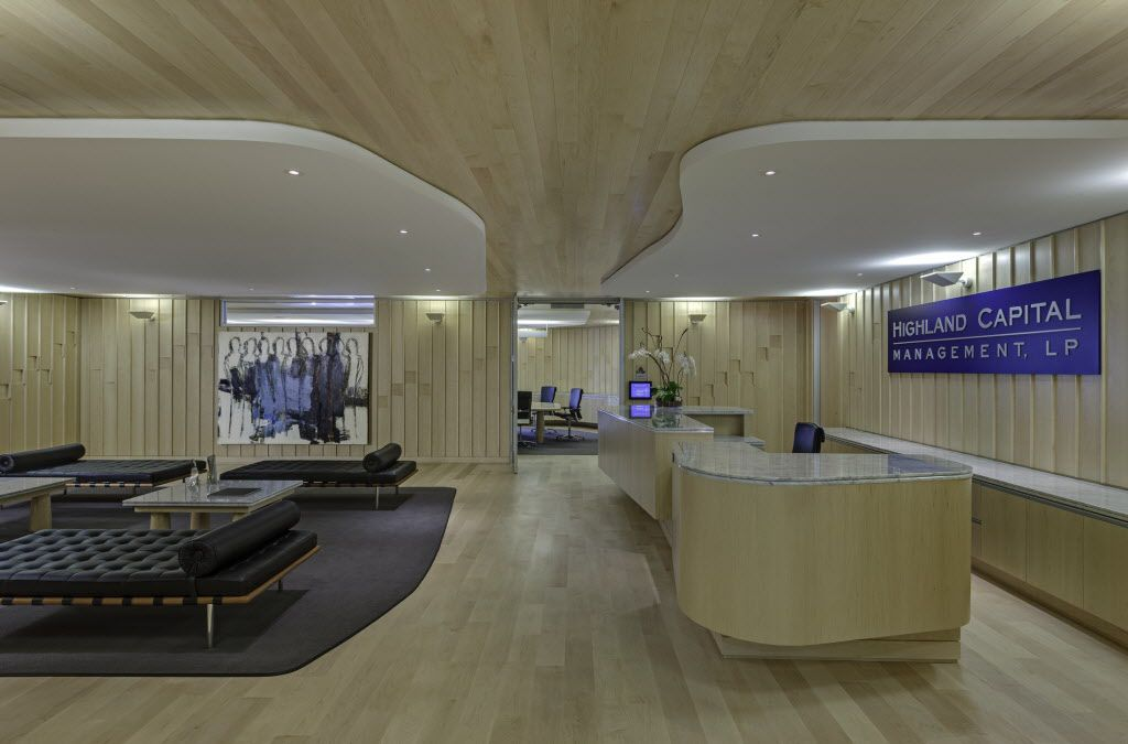 The front lobby of the Crescent offices of Highland Capital Management, a Dallas-based hedge fund. (File Photo)