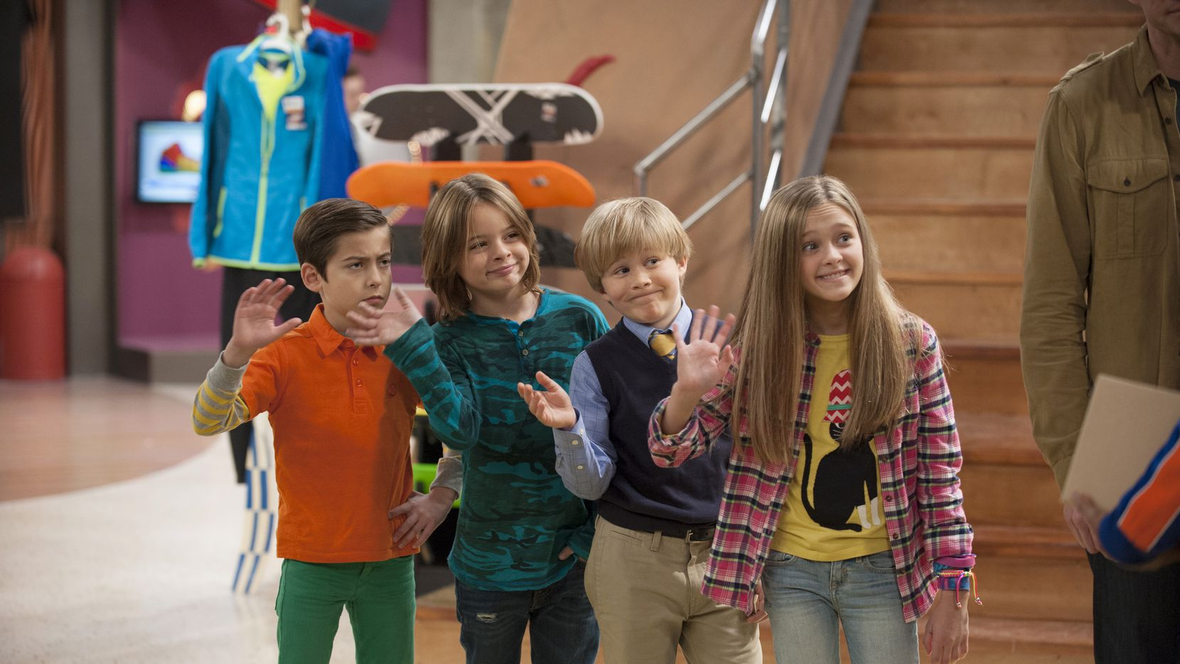 """Nicky (Aidan Gallagher), Dicky (Mace Coronel), Ricky (Casey Simpson), and Dawn (Lizzy Greene) in the first season of """"Nicky,, Ricky, Dicky and Dawn."""""""