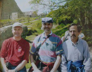 A photo of brothers Kenneth (from left), Mark and Don Woolsey was taken during a family trip to visit Kenneth in England in 2005.