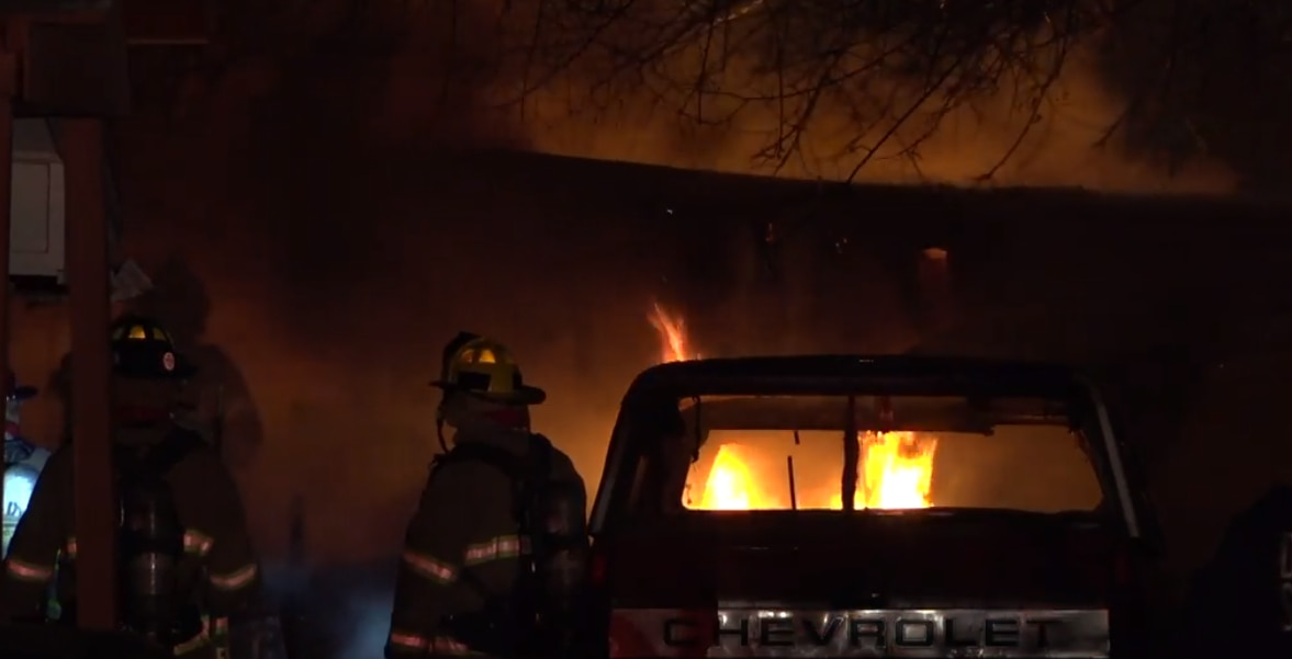 Firefighters found two bodies after extinguishing a fire at a mobile home in unincorporated Dallas County.