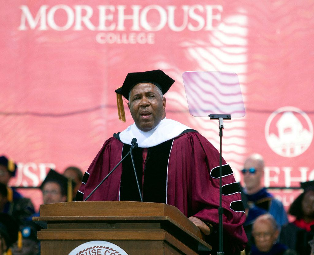 Billionaire technology investor and philanthropist Robert F. Smith announces he will provide grants to wipe out the student debt of the entire 2019 graduating class at Morehouse College in Atlanta.