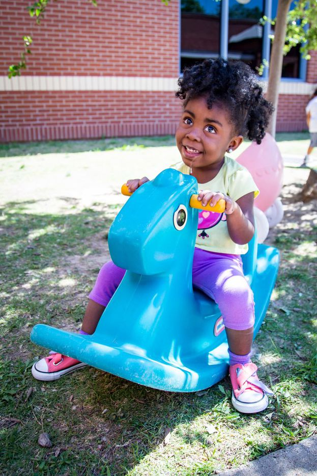 After six months of hard work, including speech and physical therapy, Zabrina has learned to walk with one hand's help at Bryan's House. Zabrina loves her class, and her mom has been able to go back to work full-time.
