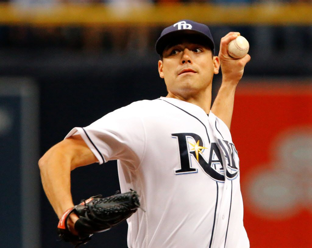 ST. PETERSBURG, FL - JULY 16: Matt Moore #55 of the Tamba Bay Rays delivers a pitch during the first inning of the game between the Baltimore Orioles and the Tampa Bay Rays at Tropicana Field on July 16, 2016, in St. Petersburg, Florida. (Photo by Joseph Garnett, Jr. /Getty Images)