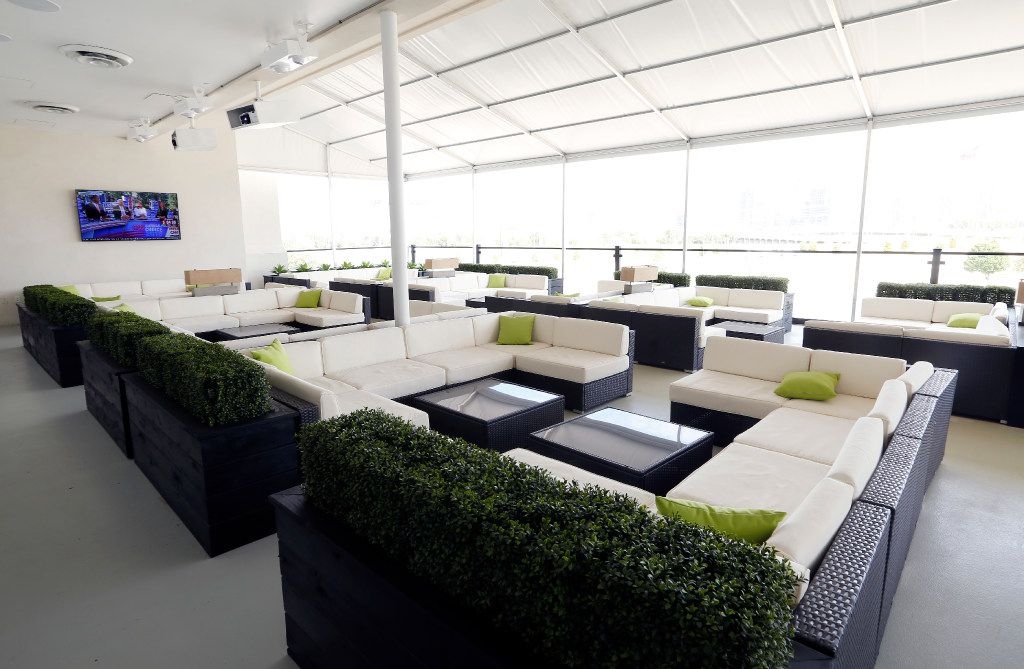 Owner Phil Romano is opening a new covered rooftop lounge with a view of the Dallas skyline at his Trinity Groves restaurant, Saint Rocco's New York Italian, Tuesday, October 4, 2016. (Tom Fox/The Dallas Morning News)
