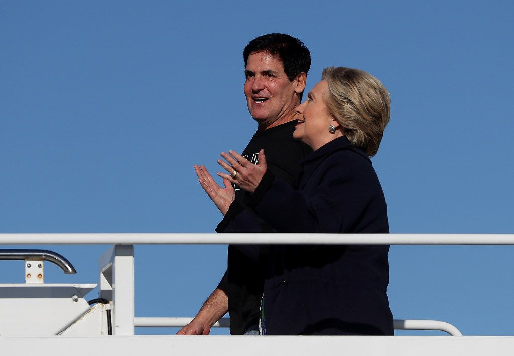 Mark Cuban told reporters on Hillary Clinton's campaign plane that the reason the effort to pay Donald Trump to leave the presidential race failed was that the offer was too low.