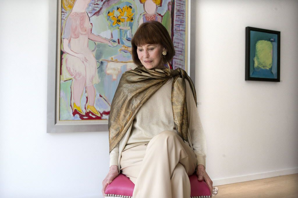 American artist, writer and fashion designer Gloria Vanderbilt poses for a photo in Toronto's De Luca Fine Art Gallery on Friday June 14, 2013, at the launch of her first solo art show in Canada.
