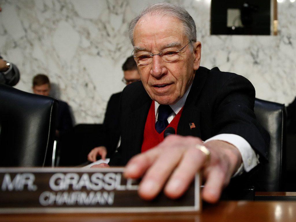 Sen. Chuck Grassley, R-Iowa, has stressed that President Donald Trump has pledged support for ethanol.