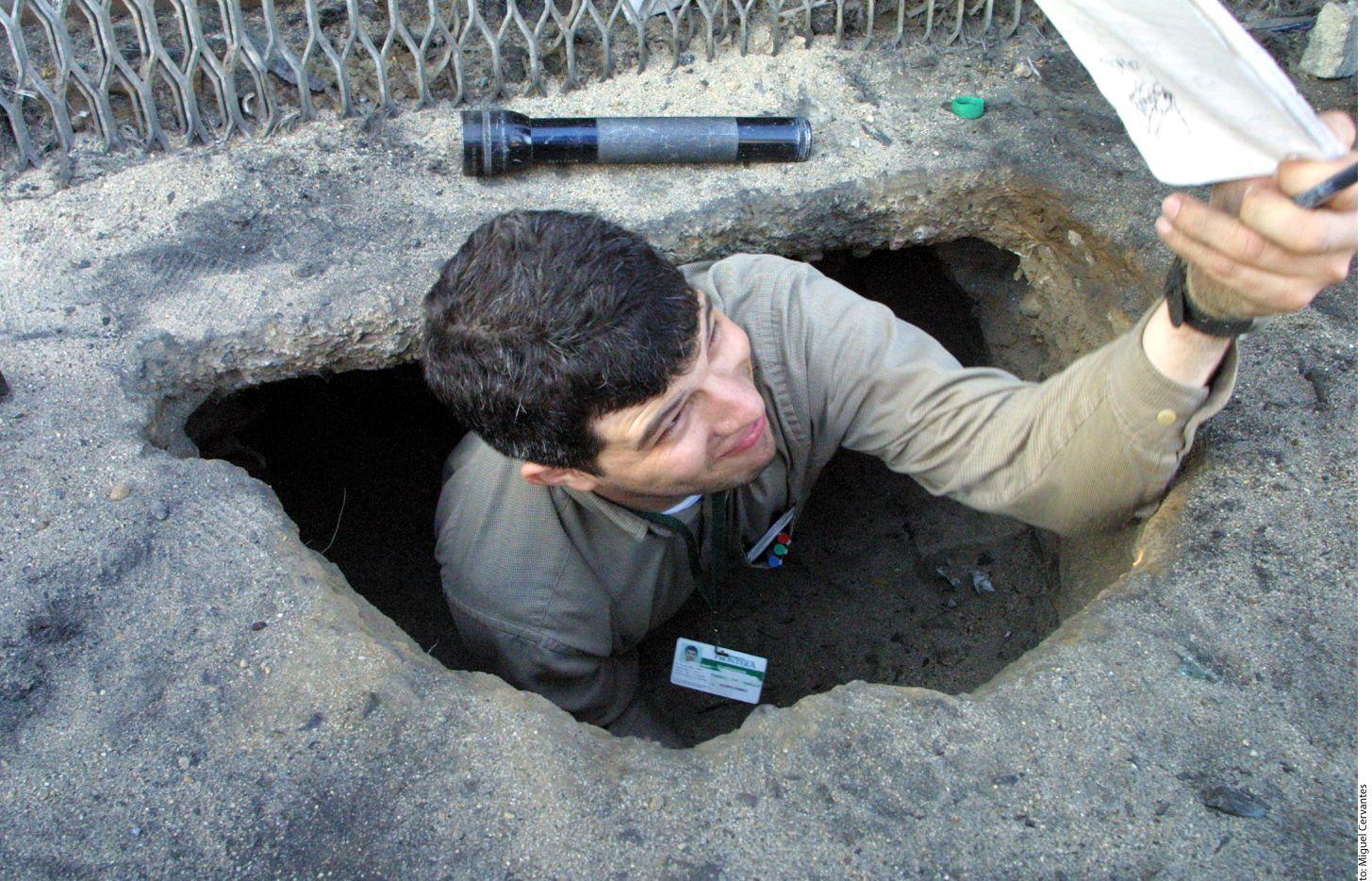 Un túnel en la frontera entre México y Estados Unidos. AGENCIA REFORMA.
